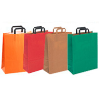 Kraft Paper Bags Flat Tape Handle