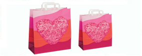 Kraft Gift Bags with Flat Tape Handles