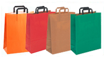 Kraft Paper Gift Bags with Flat Tape Handle
